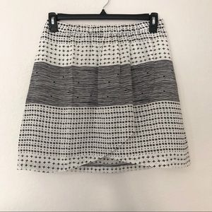 Madewell black and white graphic print skirt small